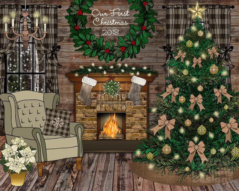 Christmas home decor rustic farmhouse First Christmas image 0