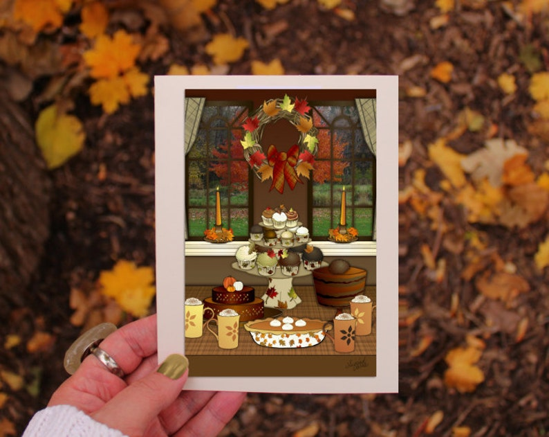Thanksgiving greeting card set hostess gift pumpkin spice image 0