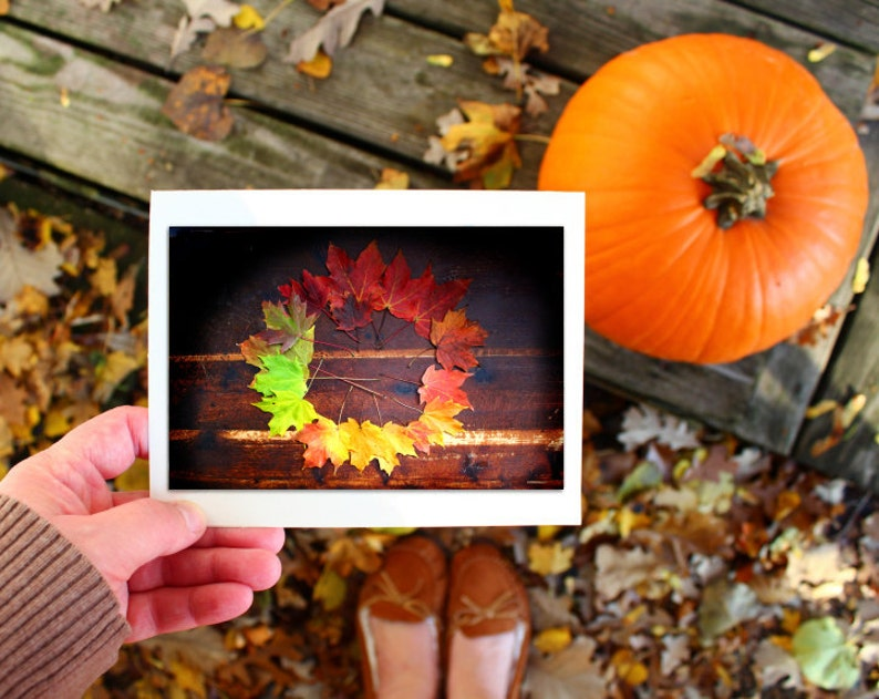 Autumn greeting card set hostess gift Thanksgiving card image 0