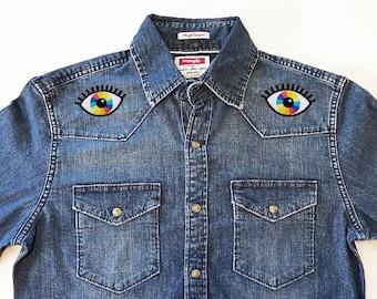 Denim Rainbow Vision Western Shirt