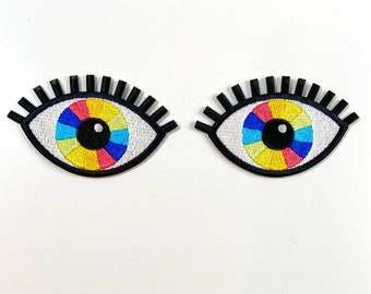 Rainbow Vision Eye Embroidered Patches
