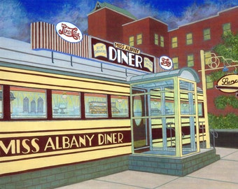 Miss Albany Diner - Limited Edition Fine Art Print