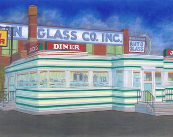 Jack's Diner - Limited Edition Giclee Print