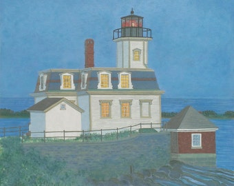 Lighthouse at Twilight - Limited Edition Giclee Print