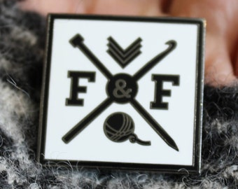 Frame & Fiber Enamel Pin - PaigeTheFramer - Button
