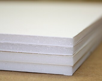 FOAMBOARD - ACID FREE - 8 x 10 - Picture Framing Supplies - Foamcore - Substrate - Do It Yourself - Craft Supplies - 4/Four Backer Boards