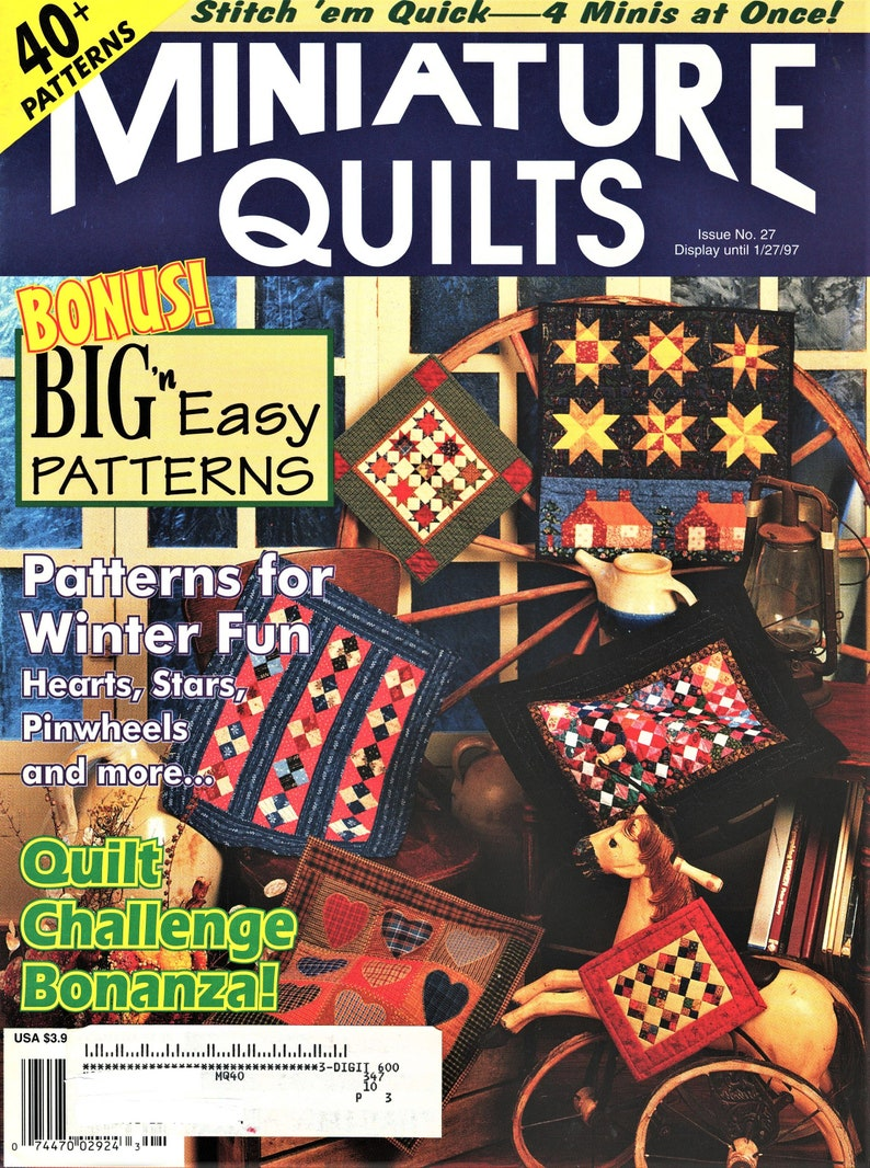 Quilt Patterns Included Miniature Quilt Magazine #27   40