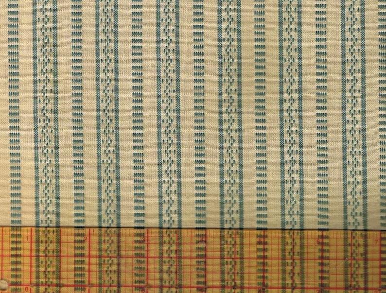 Primitive Honey And Me  Blue Stripe Fabric 1/2 Yd Off Bolt image 0