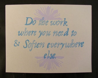 Single Letterpress Postcard Do The Work