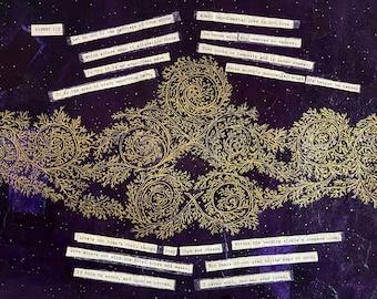 Sonnet 116 Wall Art- Unique Wall Decor- Sonnet xvi - 19x13- Purple, Gold- Poetry Collage