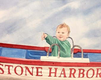 Portrait Painting- Custom Watercolor, Painting, Pencil, or Ink-  Made To Order- One Subject