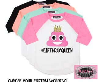 PERSONALISED I AM ?? HAPPY BIRTHDAY POOP EMOJI FULL COLOR SUBLIMATION T SHIRT