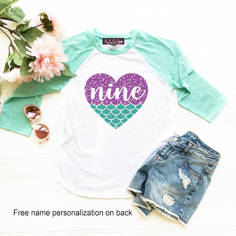 Mermaid Shirt Birthday Girls 9th