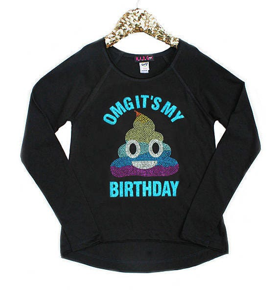 Poop Emoji Shirt Birthday Girls Rainbow