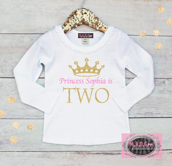 Girls Second Birthday Shirt 2nd Two