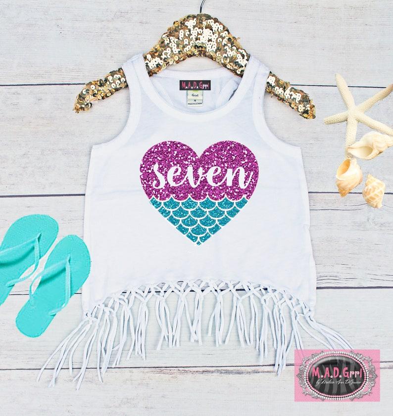 Mermaid Shirt 7th Birthday Girls Seventh