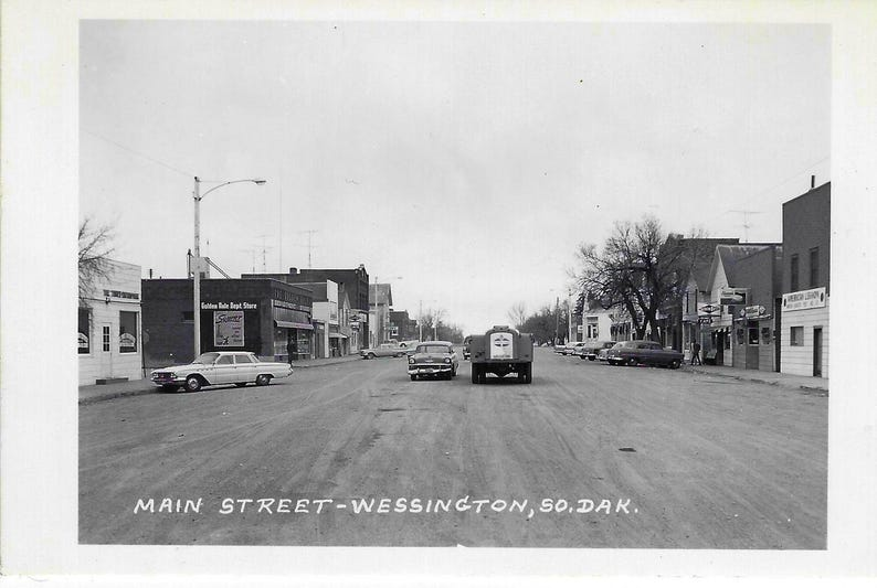 WESSINGTON SD POSTCARSS 1961 and 1974 Lot of 3