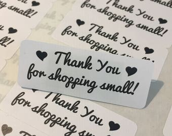 Thank you for supporting a small business- Small Business Packaging - Thank You Labels - Thank You Stickers - 60 Stickers
