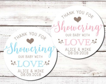 baby shower stickers etsy