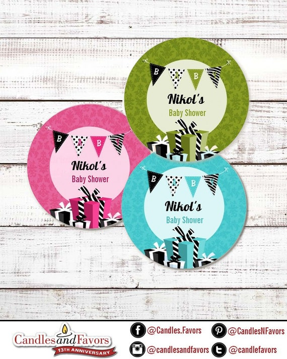 Baby Banner Personalized Round Baby Shower Sticker Labels Baby