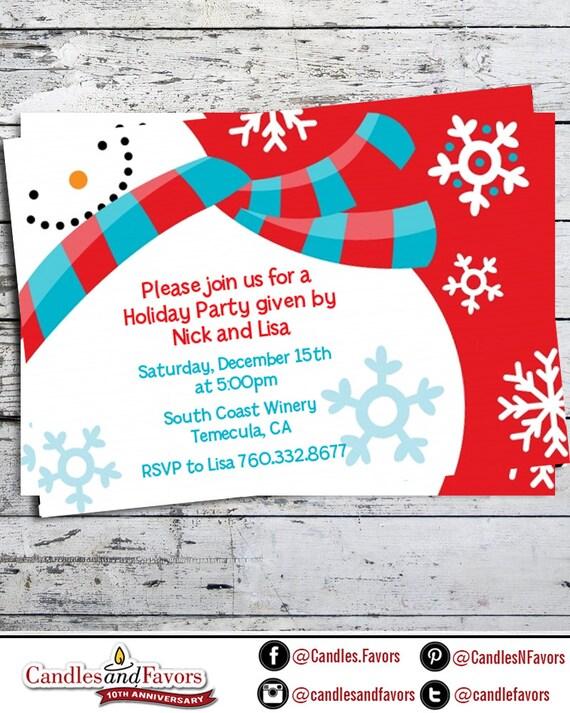 snowman fun christmas invitation build a snowman holiday party