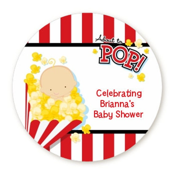 About To Pop Baby Shower Table Confetti With Your Text Etsy