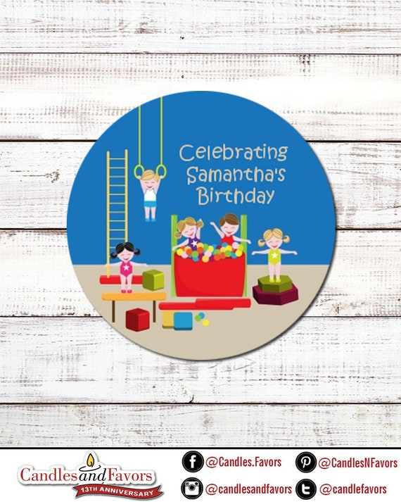 MR TUMBLE Personalised 60mm Round Stickers Birthday Party Circle Labels