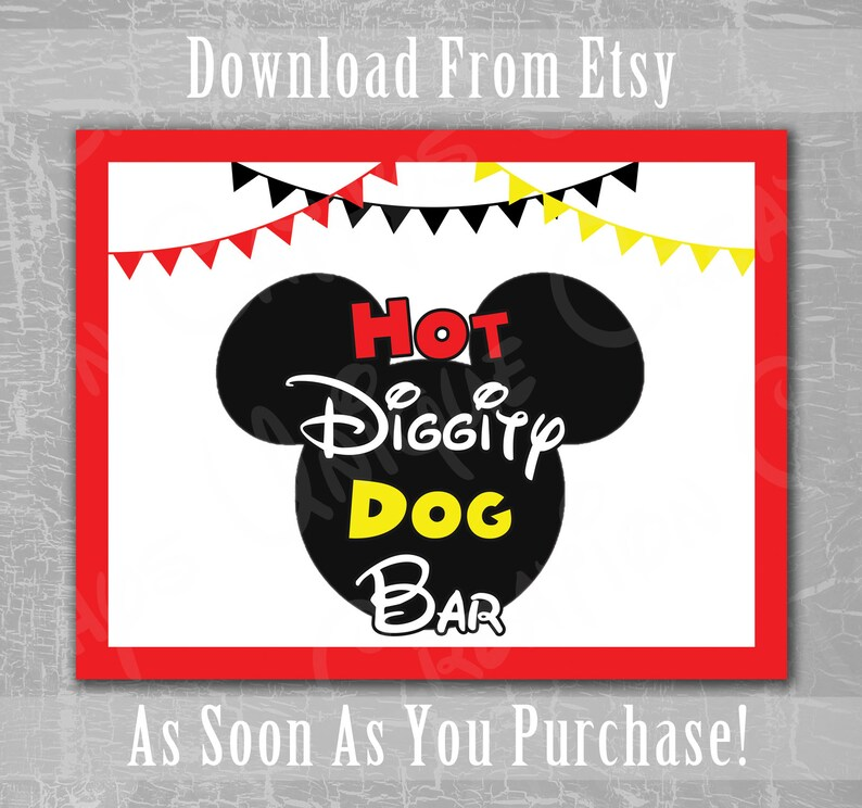 photo relating to Hot Diggity Dog Bar Free Printable titled Very hot Diggity Canine Bar, Mickey Mouse Clubhouse, Disney, Birthday Occasion, Ears, Pink, Yellow, Black, Topic, Printable, Down load, Do-it-yourself, Indicator, Letter