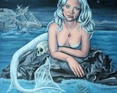 steampunk vintage mermaid fantasy giclee art print