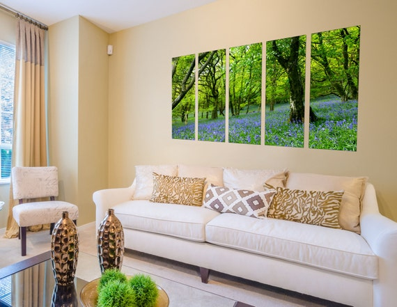 5 Pcs Relax With This Stress-Free Wall Décor Soothing Walk In The Forest Art