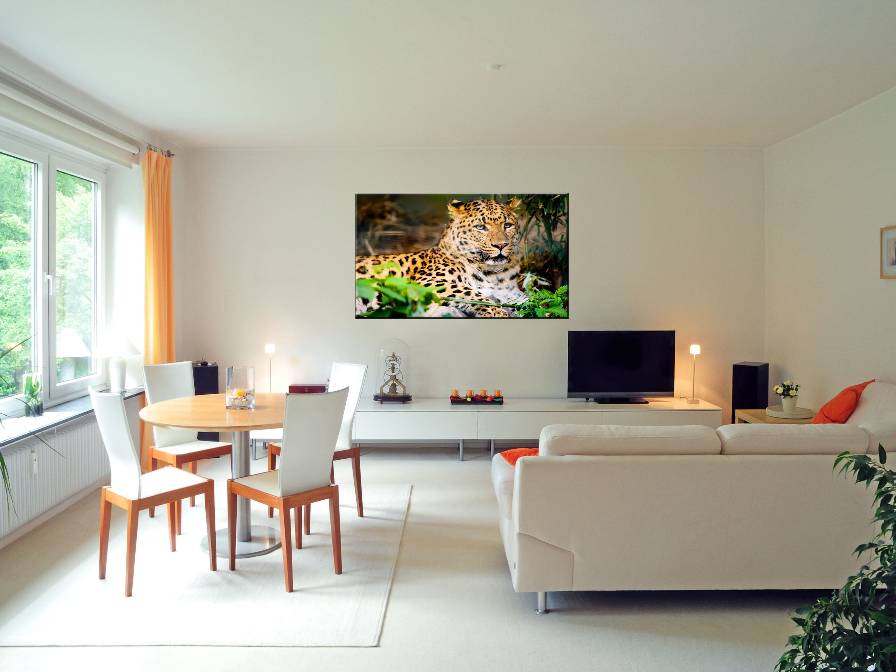 1 Panel Animal Wildlife Leopard Tiger Nyc Giclee Prints Artwork On Canvas    Wall Art Décor Picture Prints Set For Bedroom Living Room Home