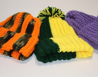 Ribbed Crocheted Hats