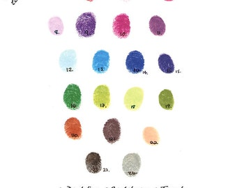 Extra Fingerprint Ink Pad ONLY for purchase with a fingerprint guest book