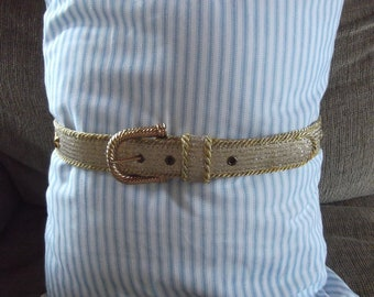 Elite Super Shiny Gold Belt With Stars Accent Free Shipping