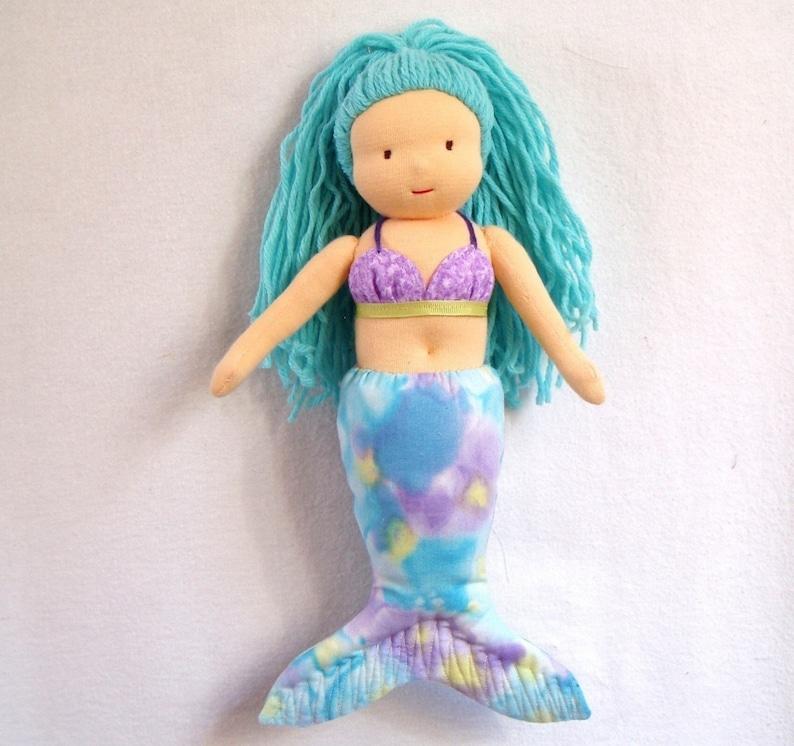 Waldorf-Inspired Mermaid Doll PDF Pattern image 0