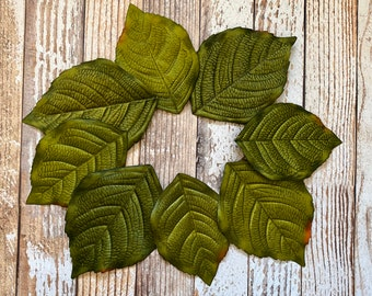 "Cotton Fabric Leaves 3color Fabric by the Yard 43/"" Wide  sh Leaves"