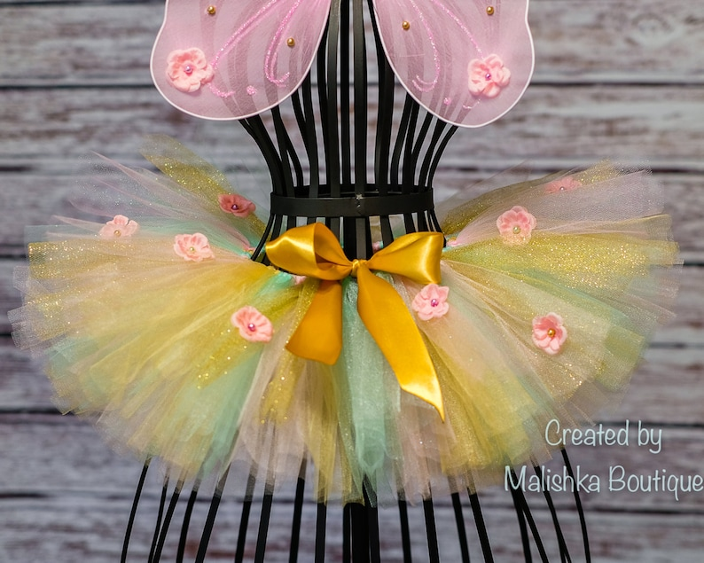 e1ab3ecfc1c6 Pink ,Mint Green, Glitter Gold Fairy Tutu, first birthday outfit, Baby Girl  boutique newborn baby photos, Flower Girl, Roses, ...