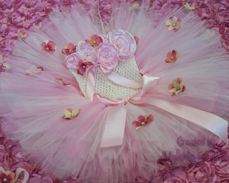 d5c35ed978 Flower Girl Dress Cream Pink Tutu Tube Top Outfit Crochet