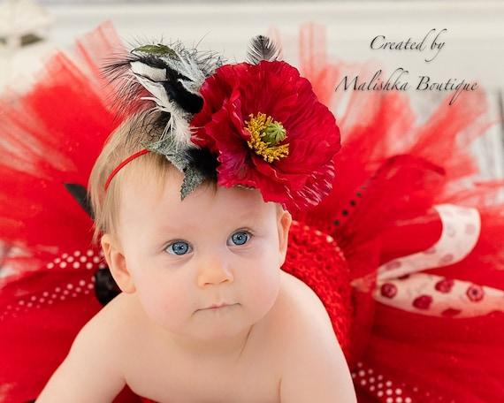 Poppy Headband White Baby Girl Adjustable Headband Vintage Inspired Photography Prop Bohemian Flower Headband Satin Flower Headband Planner