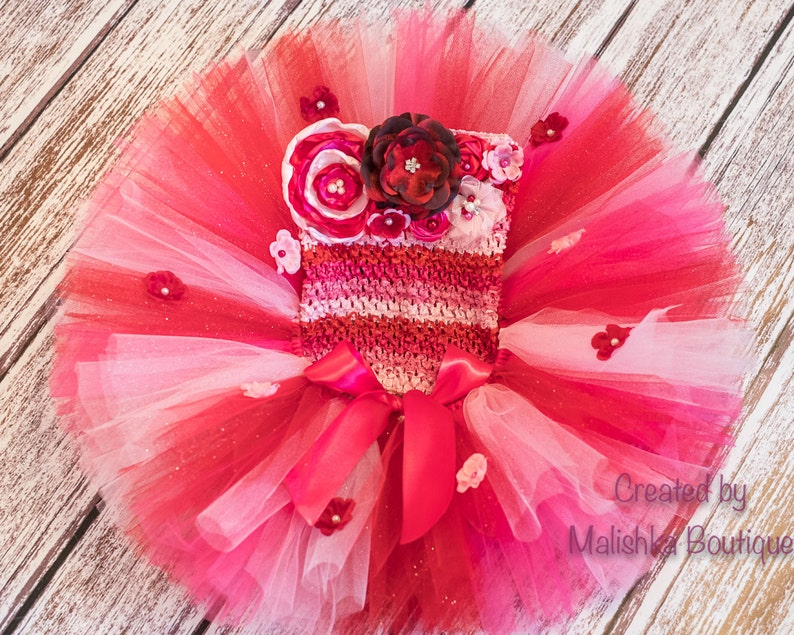 Happy Valentine/'s Day Pink Red Shabby Flower Bottle Cap Headband
