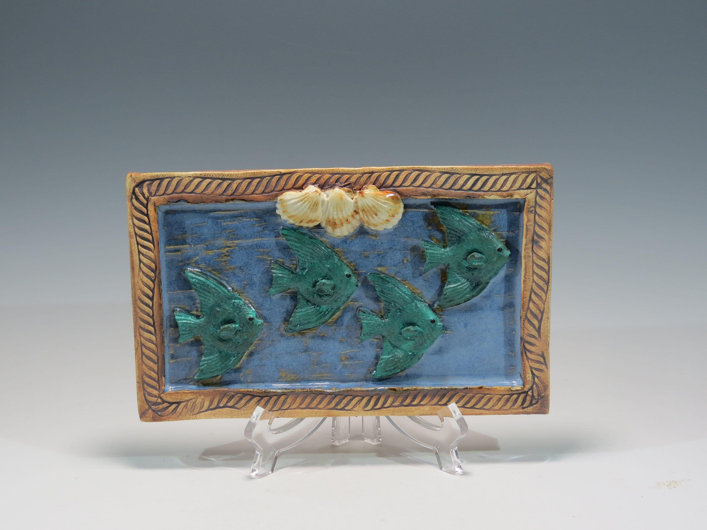 Ceramic Tropical Fish Tile Decorative Ceramic Wall Hanging Etsy