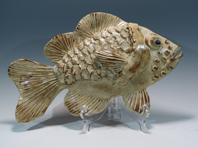Ceramic Fish Sculpture Fish Art Fish Wall Hanging Nautical Art | Etsy