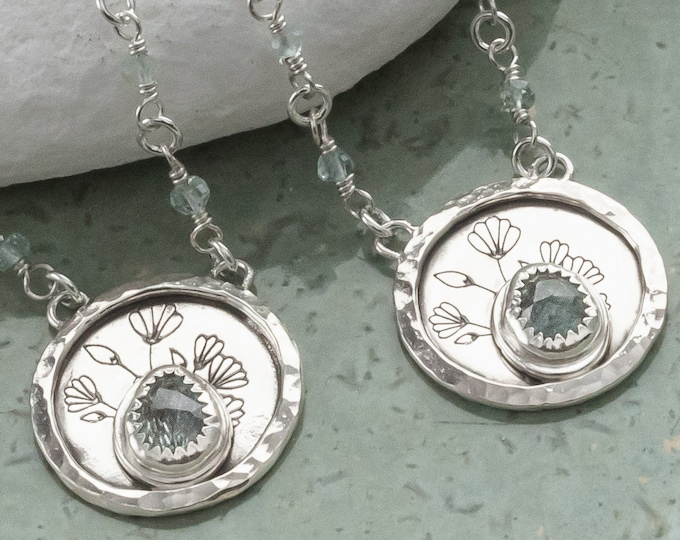Sterling Silver and Aquamarine Pendant Necklace