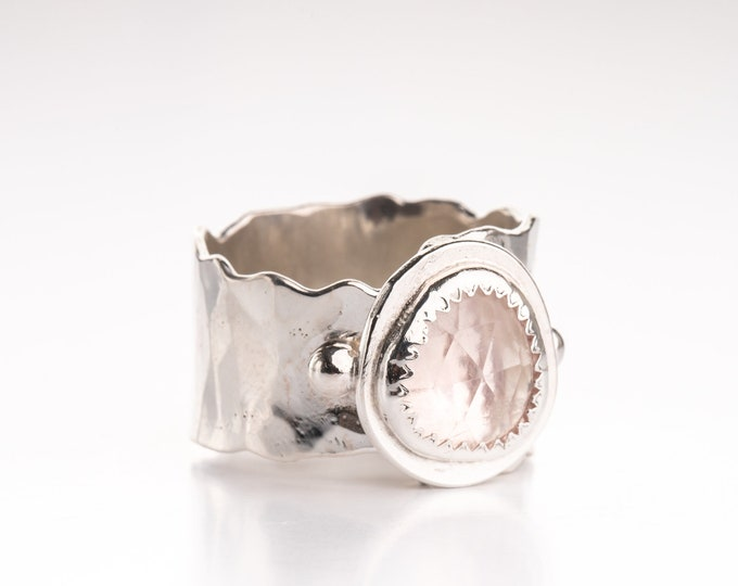 Rose Quartz size 9 ring