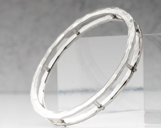 Big Reversible Sterling Silver Circle Pendant