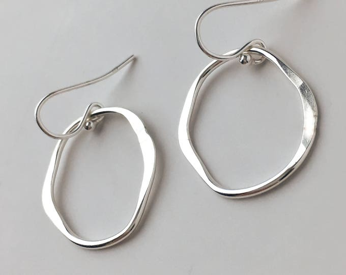 Organic Shaped Drop Earrings