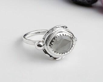 Gray Moonstone Ring Size 7.5