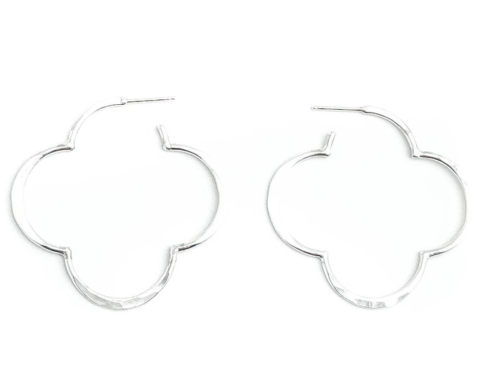 Quatrefoil Hoop Earrings