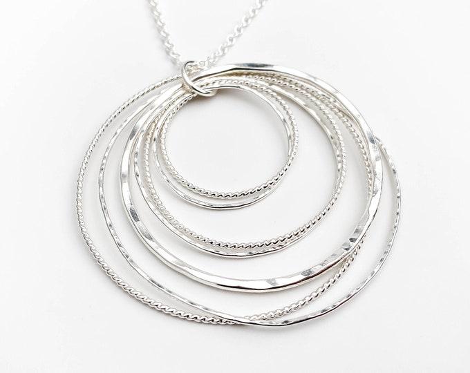 Multi Circle Statement Pendant Necklace
