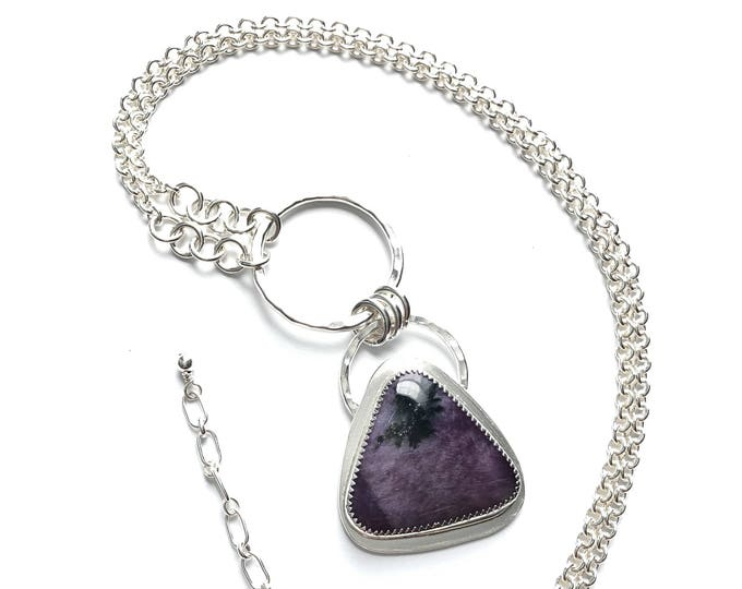 Triangle Tiffany Stone Pendant Necklace
